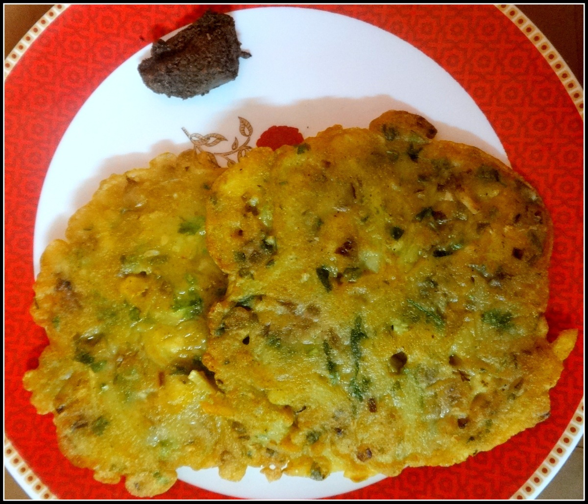 Flour Pancake with veggies (Gola Ruti)