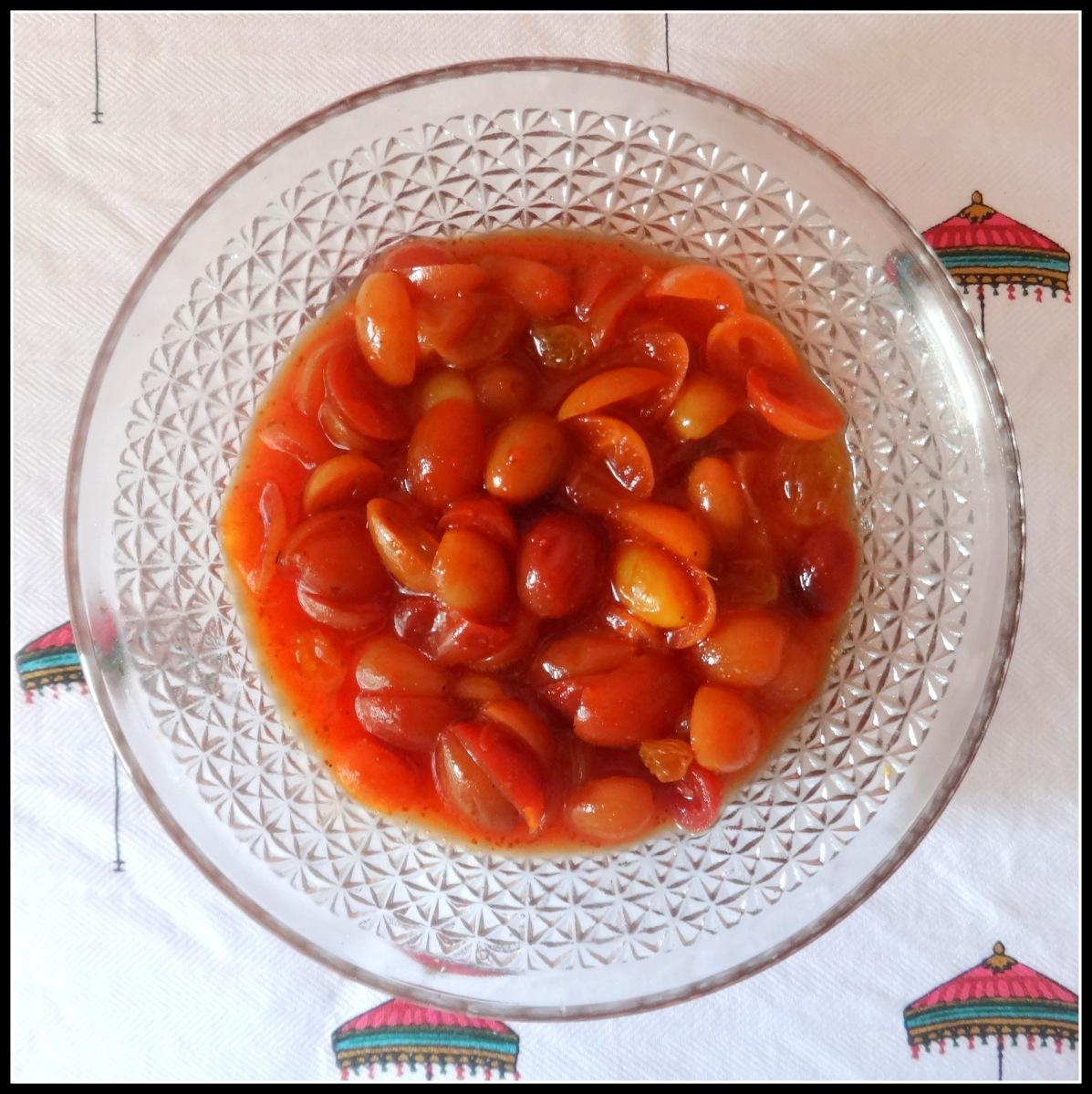 Ripe Bengal Currant (Koromcha) chutney