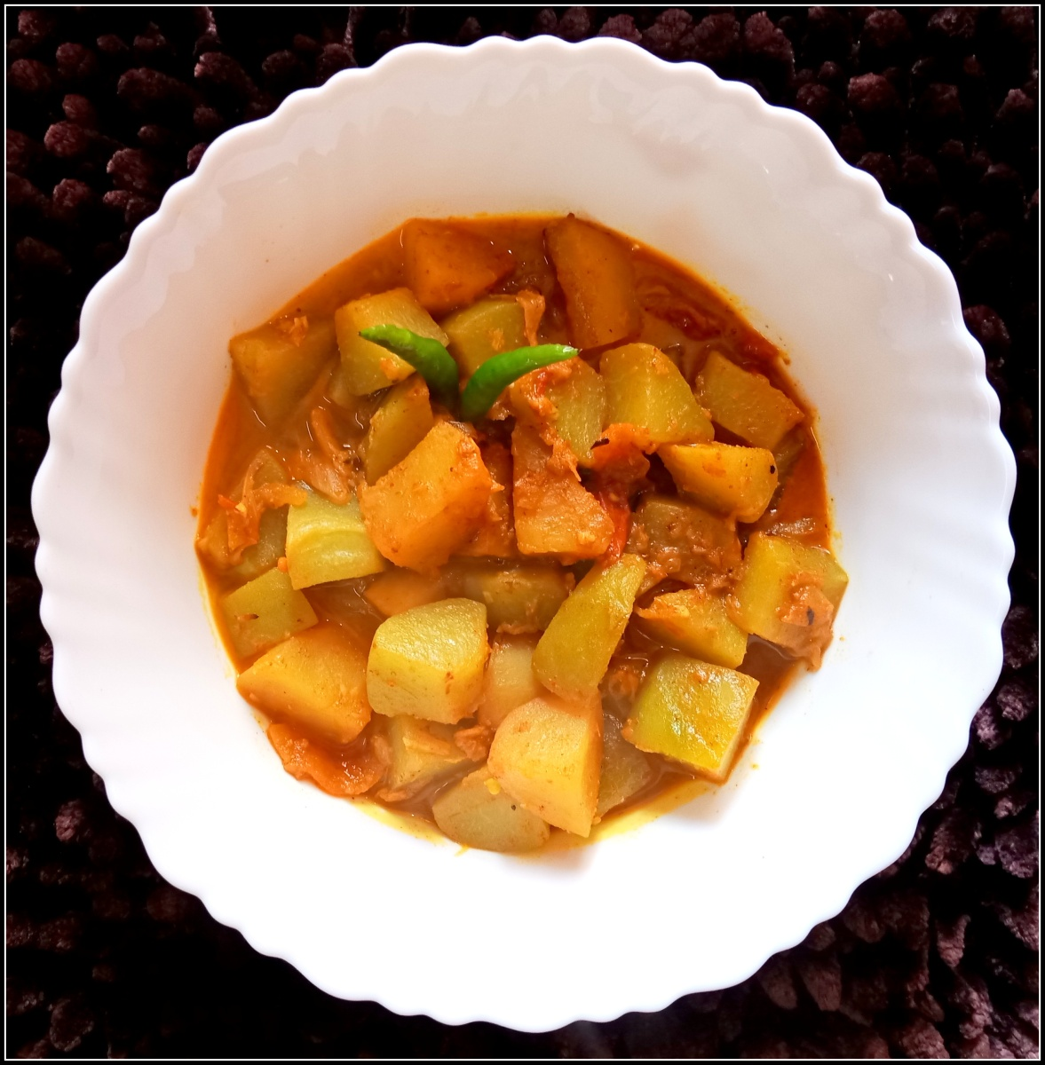 Chayote & potato curry (Aloo diye Squash er torkari)
