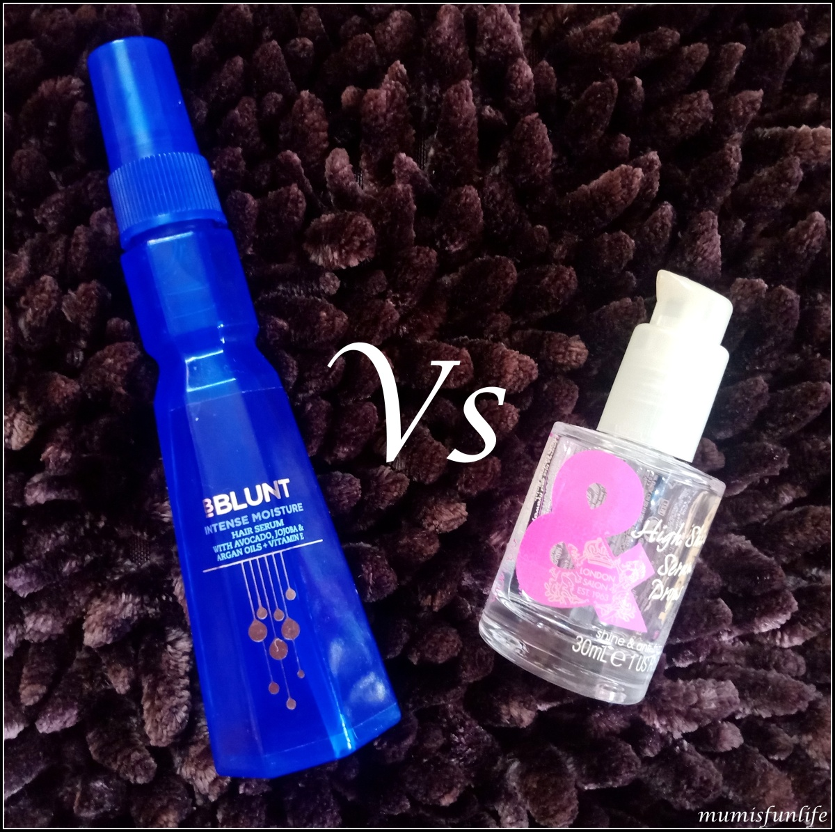 Comparison - Toni&Guy High Shine serum Drops & BBLUNT Intense Moisture Hair Serum
