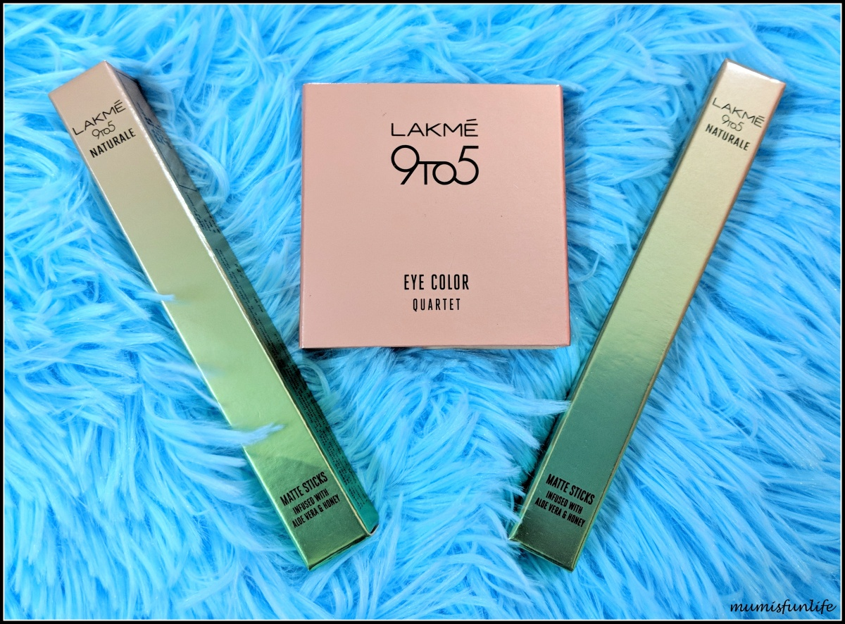 Lakme 9 to 5 Naturale Matte Sticks + Lakme 9 to 5 Eye color Quartet review