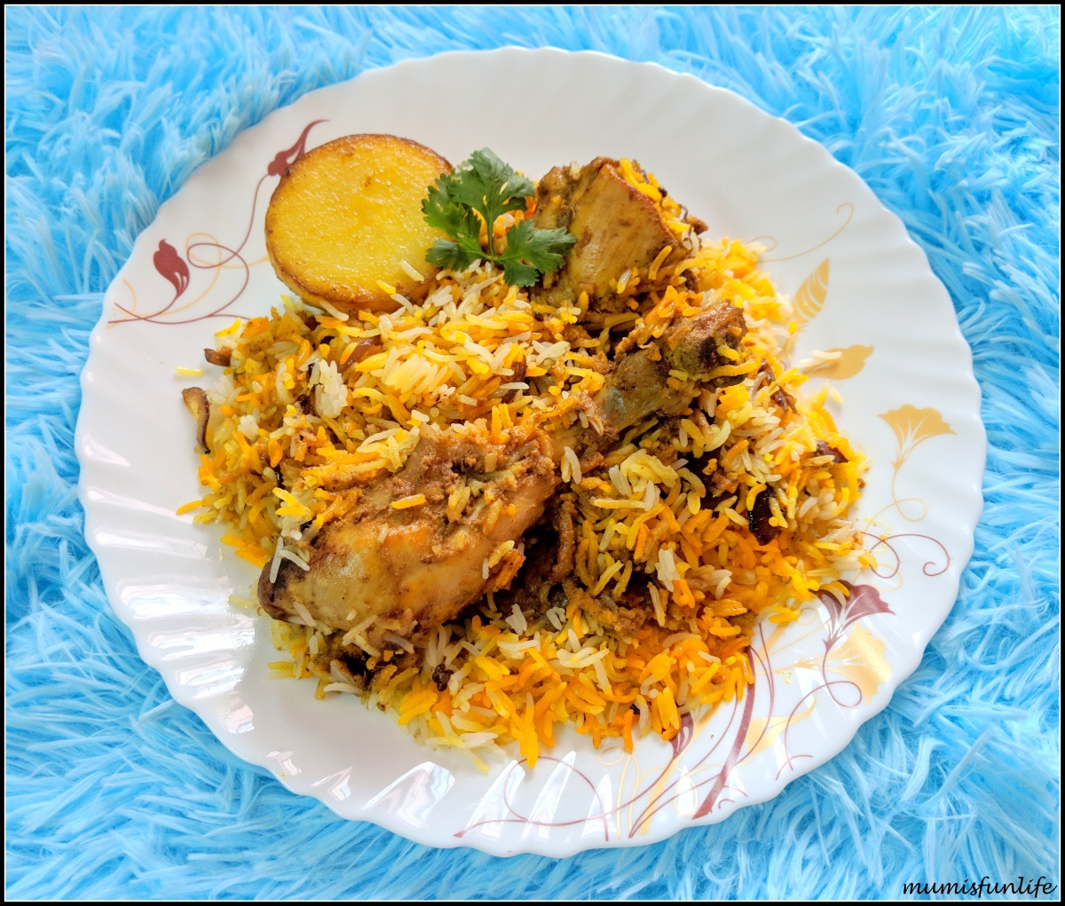 Chicken Biryani (Kolkata style)